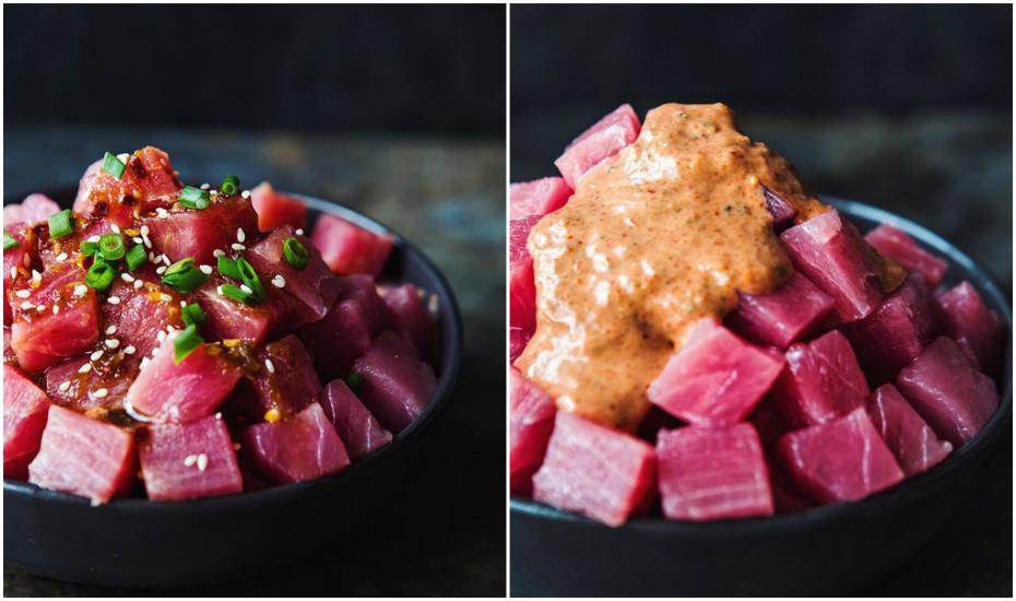 Shoyu tuna? Or spicy garlic sesame tuna?