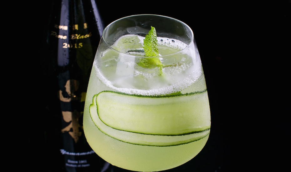 Ruban's signature Sake My Cucumber