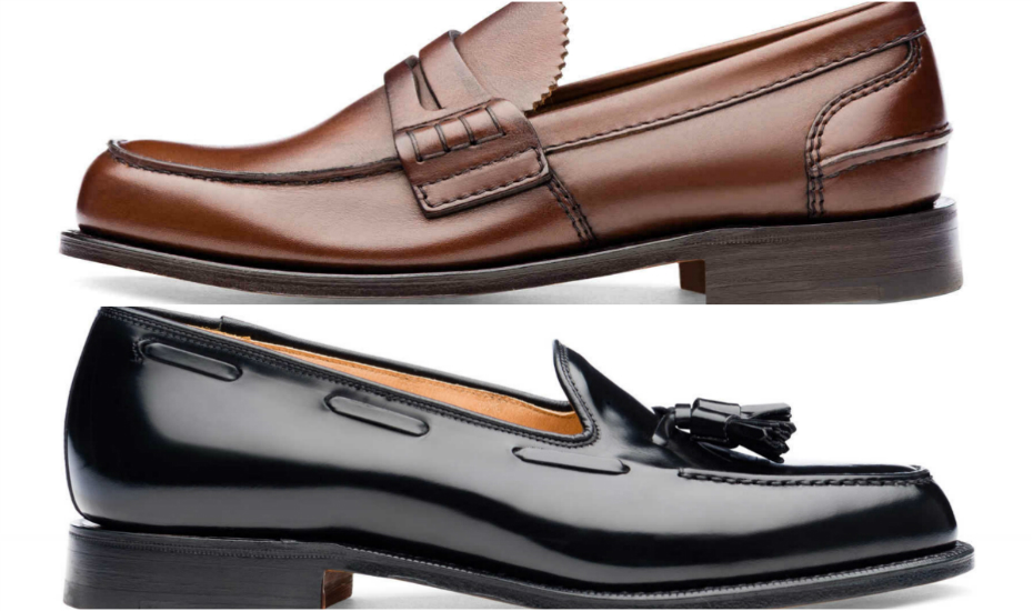 Churches' Pembrey Prestige loafers (top) and Keats Polished Binder loafers (bottom)