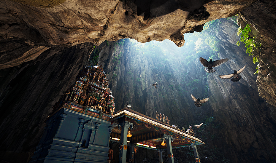 Interior of Batu Caves (Credit: Grey Chow via Shutterstock)