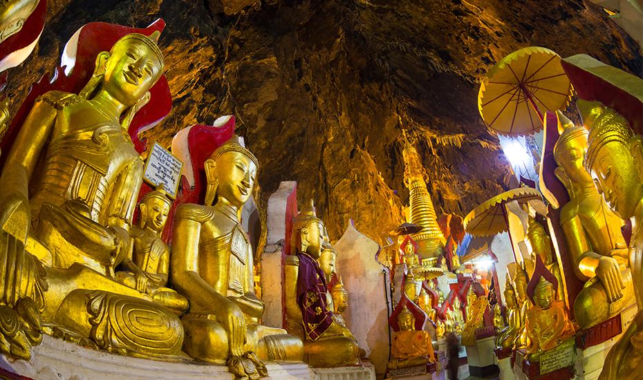 Pindaya Caves (Credit: Matej Kastelic via Shutterstock)