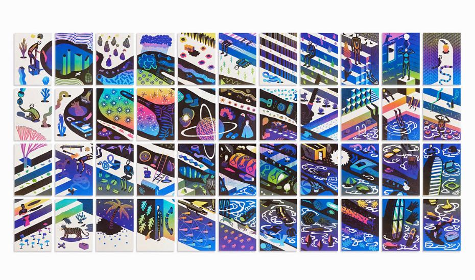 Sleepless 2016, Linocut, reductive print on handmade paper (Credit: @Agugn)