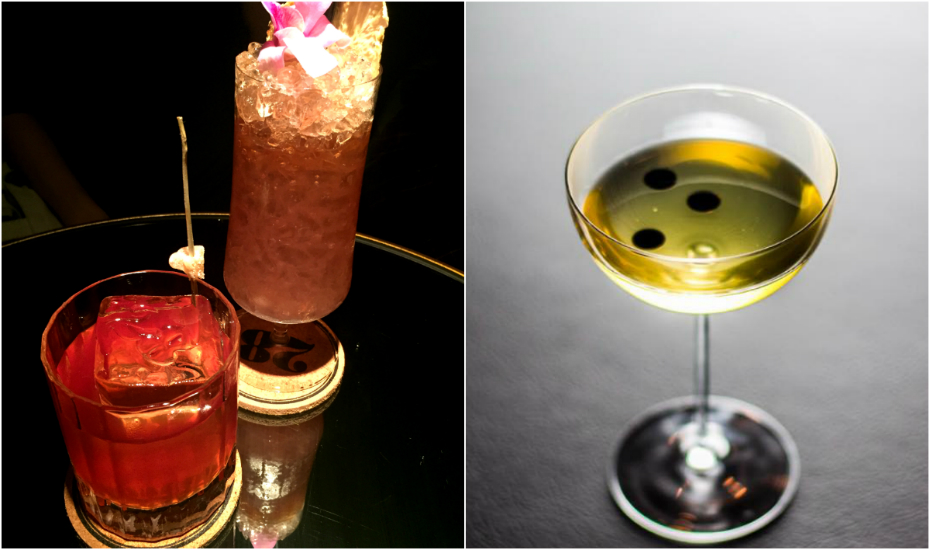 Boozy, bespoke concoctions you can find at 28 Hong Kong Street (left) and Operation Dagger (right)
