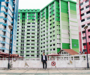 Head to the rooftop of Rochor Centre for an all-encompassing view of the colourful HDB blocks