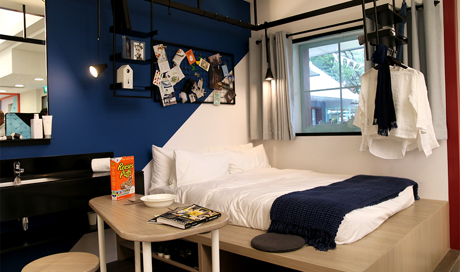 A setup of private serviced apartments at lyf