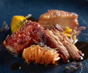 Chargrilled Iberico pork belly at The Garage (Photo credit: The Garage)