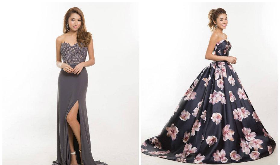 Evening dress singapore rental costs