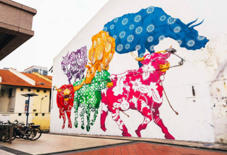 Last year's mural, Cattleland by Eunice Lim