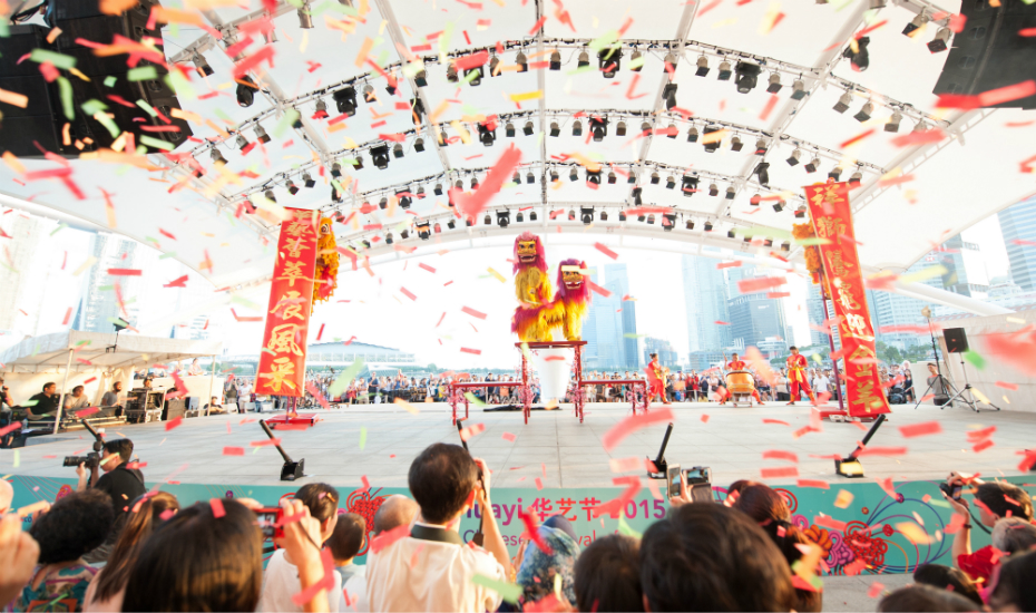 Chinese concerts, theatre, cultural workshops and more take place over Huayi at The Esplanade