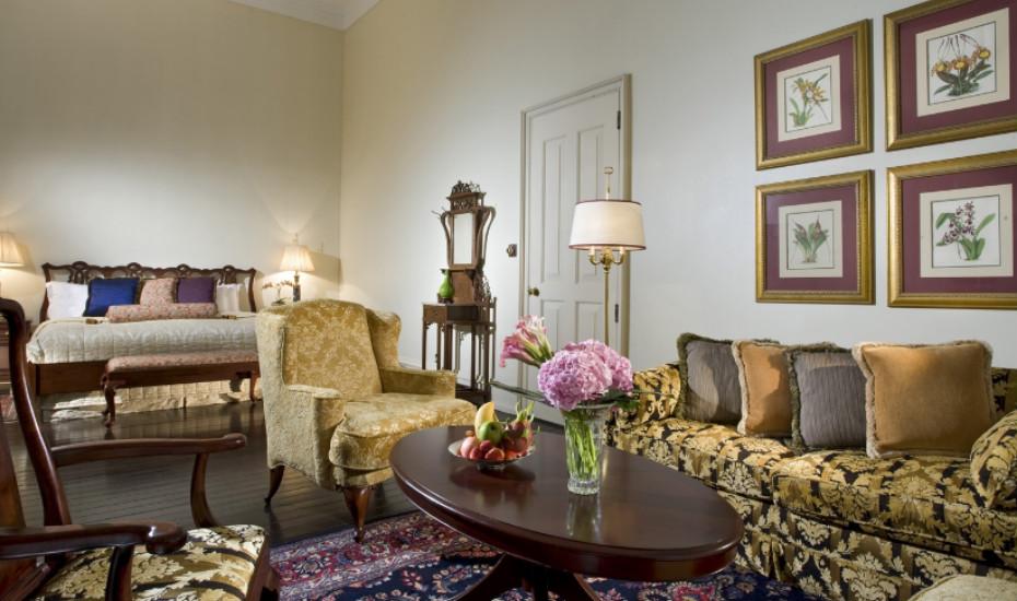 Raffles hotel suite
