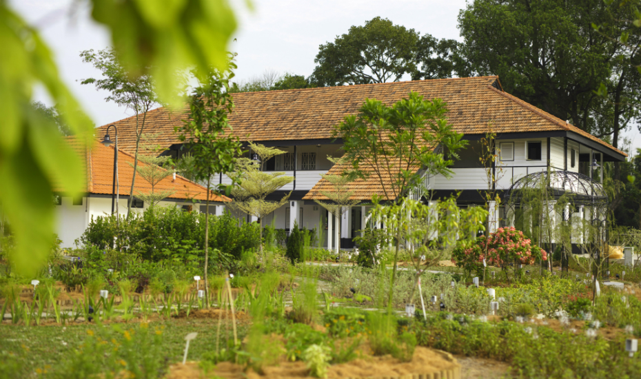 Traipse through its sprawling edible garden