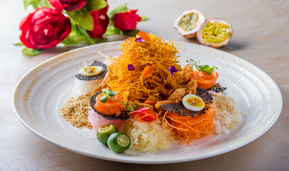 Toss 'em high with VLV's yu sheng creation