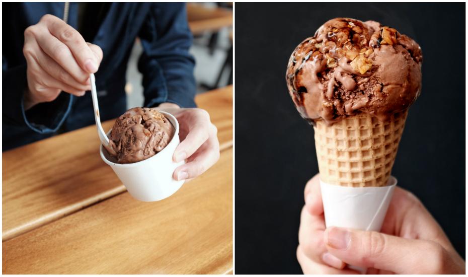 Chocolate Tau Yew Tempeh Crunch ice-cream