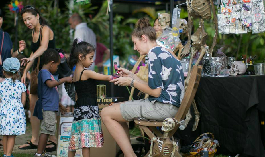 Even the little ones get to join in on the fun at the Tanjong Goodman Weekend Market