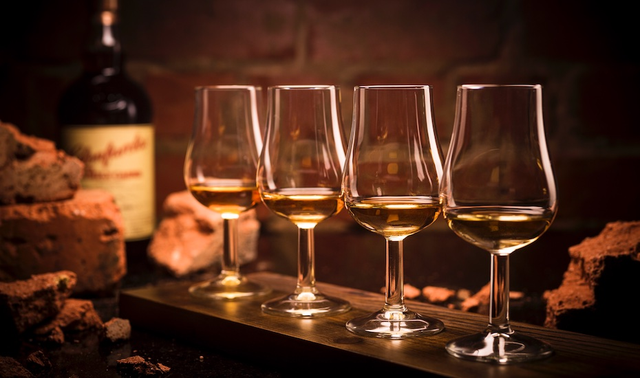 The East Meets West Whisky Flight
