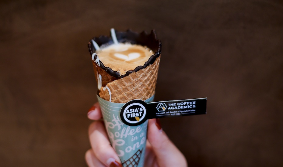 Coffee in a Cone comes to Singapore: Try this new way to enjoy coffee at The Coffee Academics