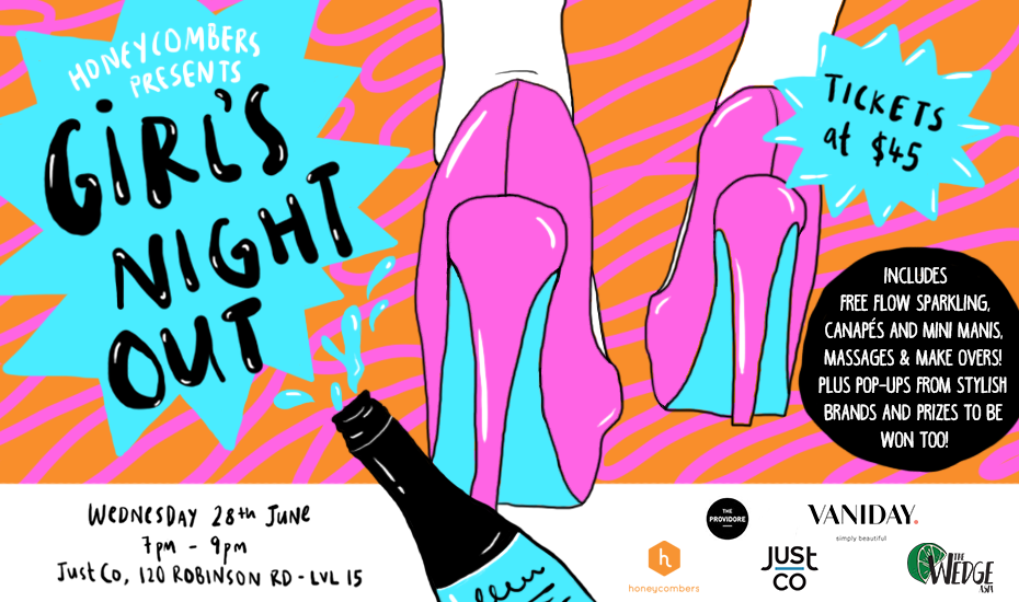 Honeycombers Girl's Night Out: Free makeovers and free-flow sparkling wine and canapes for you and your squad