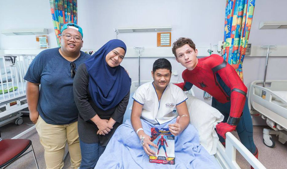 Superhero in stealth-mode: Spider-Man and his sidekick drop by KK Hospital