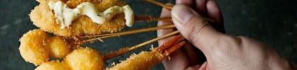 Kushikatsu at Panko Japanese restaurant Haji Lane Honeycombers Singapore