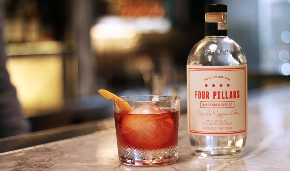How to make a Negroni with Four Pillars gin Honeycombers Singapore