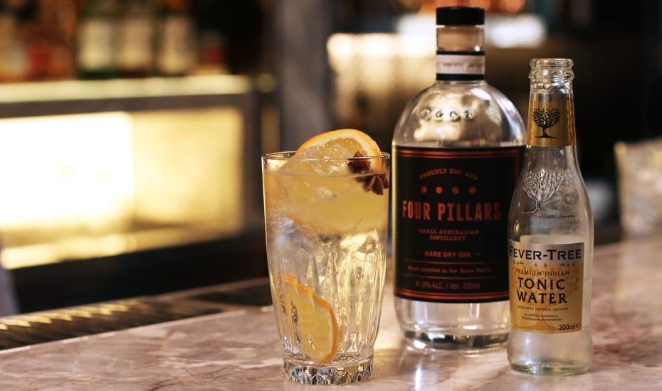 How to make a gin and tonic with Four Pillars Honeycombers Singapore