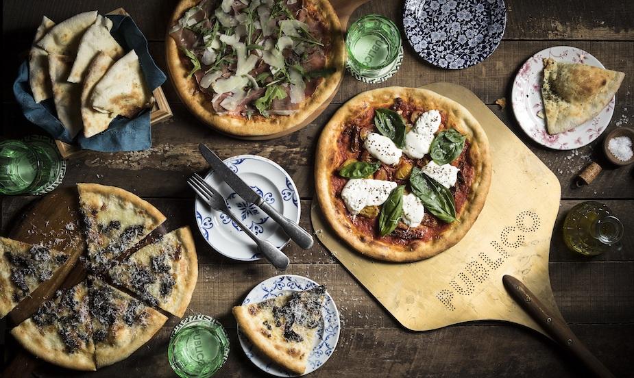 Publico Ristorante's signature wood-fired oven pizzas. Photography: courtesy of Publico Ristorante