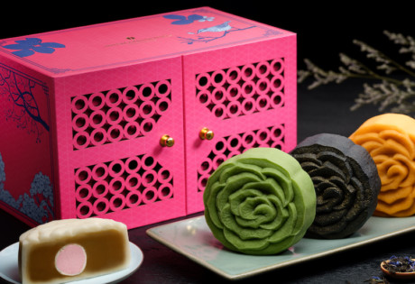 Tea infused mooncakes from Man Fu Yuan