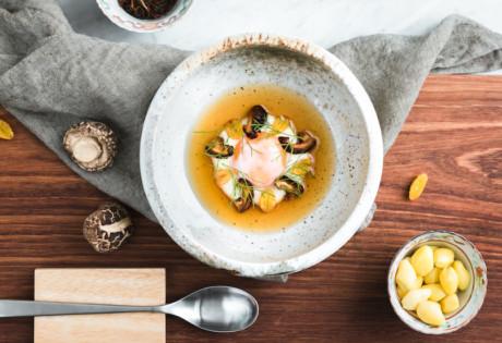 A modern take on the tea egg at Restaurant Ibid