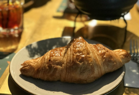 A staple at Tiong Bahru Bakery: the freshly baked croissant.