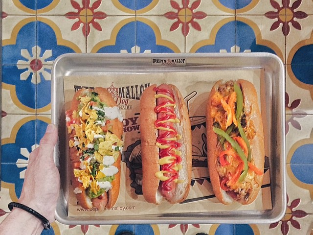 Just a couple of examples of Pepin & Malloy Hotdogs' fine work. Photo: Pepin & Malloy