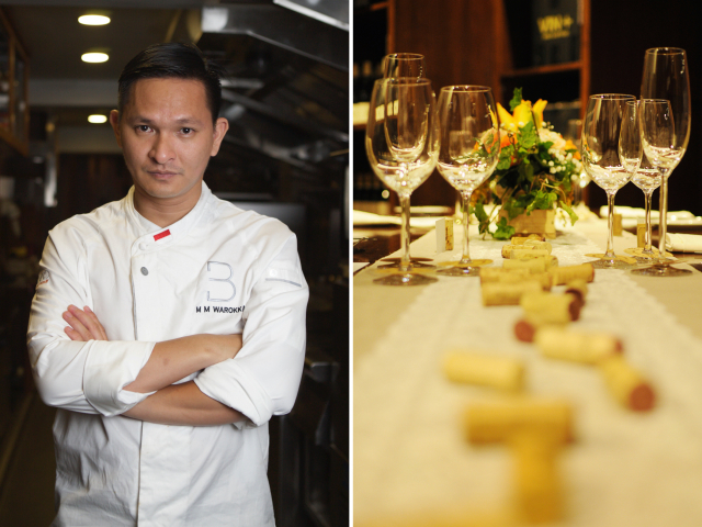 Don't miss the wine dinner with chef Mandif Warokka