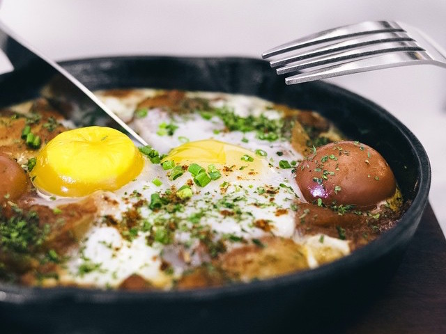 Tunisian Shakshouka at Common Grounds Coffee. Photo credit: Common Grounds Coffee.
