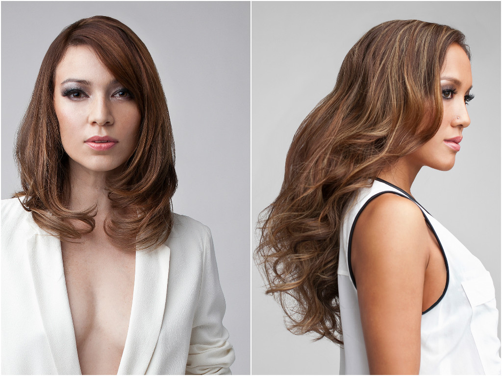 Permanent Blowout Looks Bold (left) and Chic (right). Photo: Courtesy of Blow+Bar