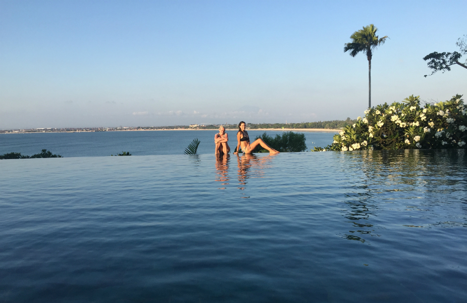 Us chilling by the infinity pool
