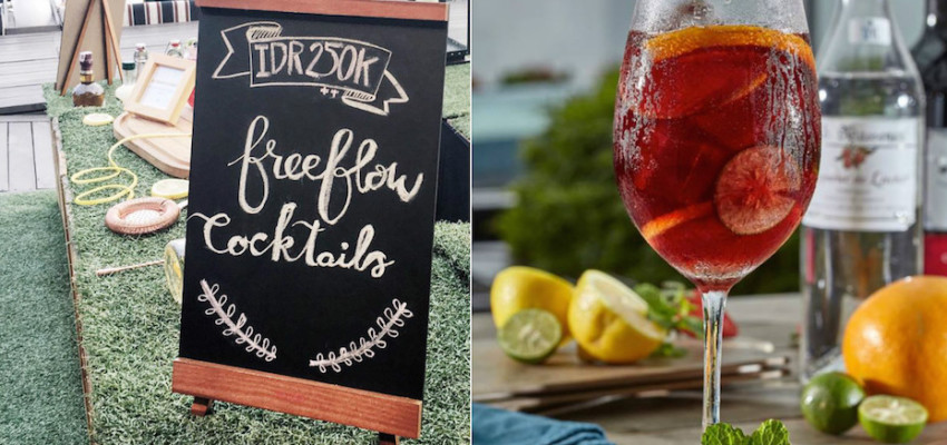 Free flow sangria at Skye Restaurant and Lounge