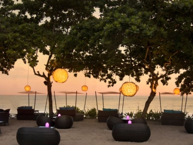 Sunset beach bars in Bali