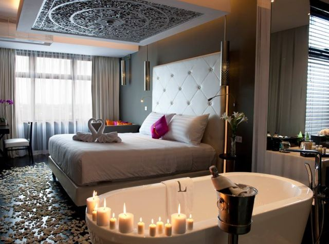 L Hotel Seminyak's gorgeous, plush suites fully decked out for a night of romance