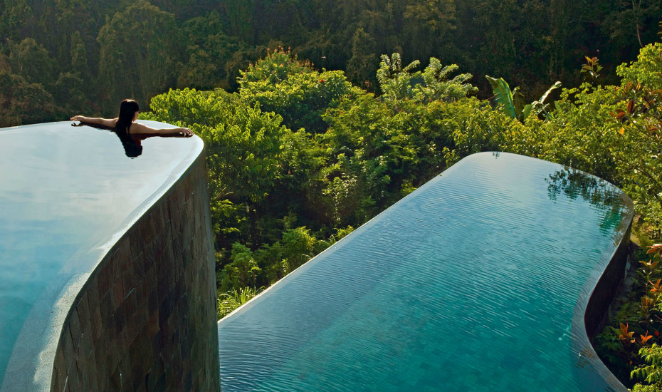 The Hanging Gardens in Ubud is known for its stunnig infinity pools