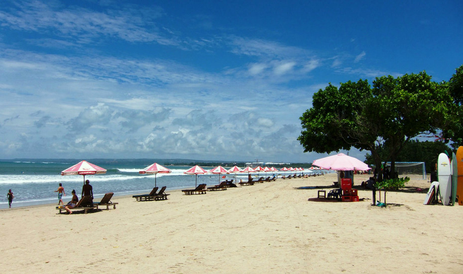 Spend the day by the beach in Kuta