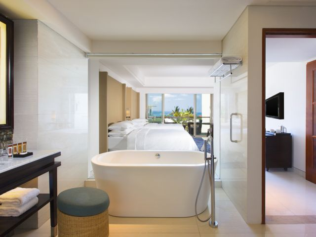 The Deluxe Ocean View rooms will make it hard to leave the room!
