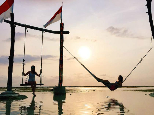Instagram worthy places in Bali: Gili T