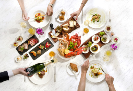 Champagne-Brunch-on-the-Eighth food and champagne