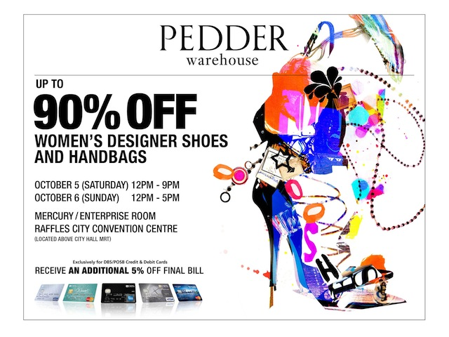 pedder warehouse sale singapore