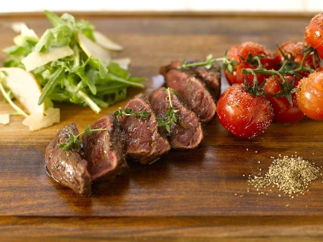 Grass fed Flat Iron Steak, Garlic, Thyme