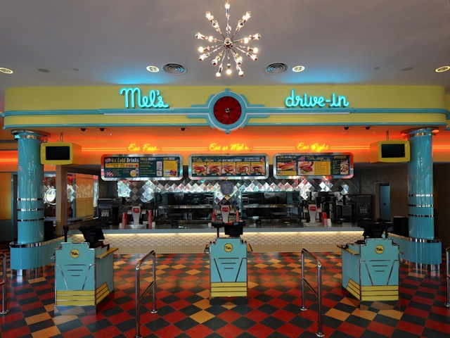 Mel's Drive-In is based on George Lucas' hit comedy-drama American Graffiti; Credits: City Neon