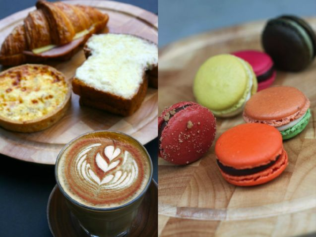 Have some colourful macarons or a breakfast set alongside your hot chocolate at Pattiserie G
