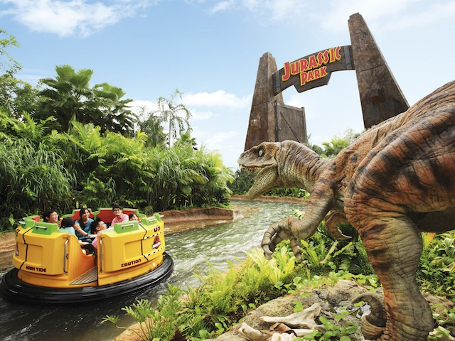 Get a poncho as you're in for a soakin' good time at Jurassic Park Rapids Adventure; Credits: Resorts World Sentosa