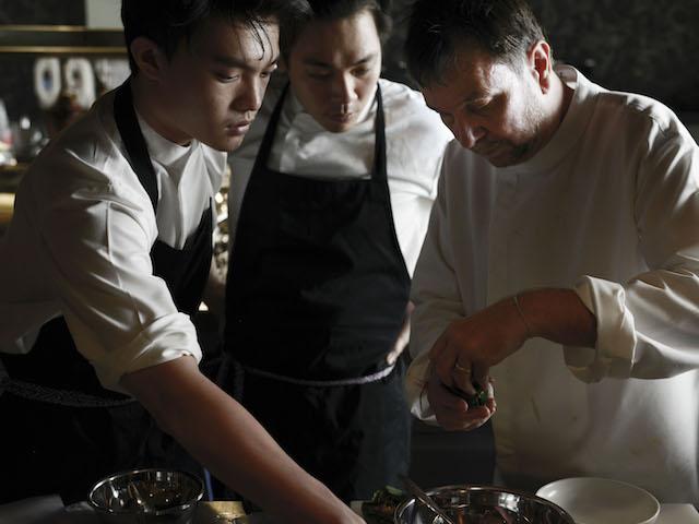 David Thompson and his culinary team at Long Chim