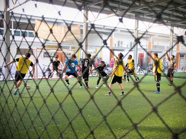 Three artificial pitches to play futsal at Sports Planet, Punggol