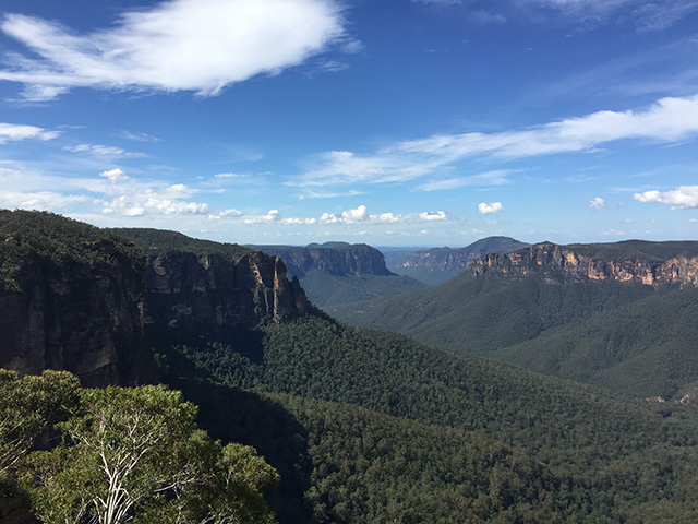 The beautiful Blue Mountains are easy to reach from Sydney